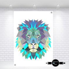 Nursery Print | Geometric Lion Print