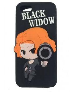FUNDA IPHONE SUPER HEROE BLACK WIDOW