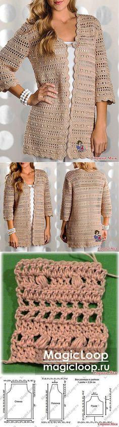 Fabulous Crochet a Little Black Crochet Dress Ideas. Georgeous Crochet a Little Black Crochet Dress Ideas. T-shirt Au Crochet, Beau Crochet, Crochet Cardigan Pattern, Crochet Shirt, Crochet Jacket, Crochet Poncho, Crochet Stitches, Crochet Flower, Crochet Fashion