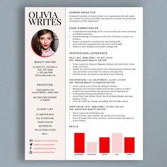 Fully Editable Modern & Feminine Résumé Template Design | Beauty Editor, Fashion Editor, Writer, Photographer or Stylist CV | Custom Résumé/CV by StudioMeroe - $16