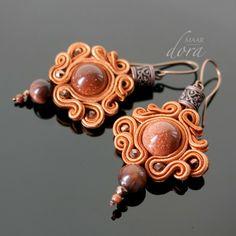 Dwustronne kolczyki sutasz / double-sided soutache earrings by Dora Maar