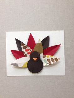 Turkey thanksgiving card. 1 card by imeondesign on Etsy, $6.00