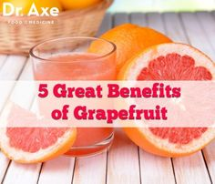 5 Great Benefits of Grapefruit: Grapefruit has many health benefits, uses and forms.  Along with consuming the entire fruit, grapefruit juice, grapefruit essential oil and grapefruit seed extract can all be used to benefit your health.
