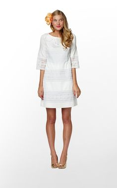 Short white lace. Lily Pulitzer. Would be great for Lindsey's 8th grade…
