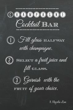 Free printable for a #mothersday champagne bar/ mimosa station.