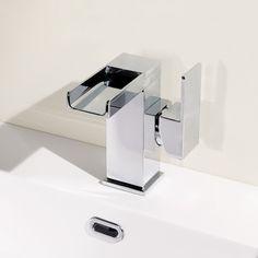 Quadra Waterfall Side Lever Basin Mixer Tap | Waterfall Bathroom Taps | Better Bathrooms