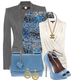 """Work Set"" by elenh2005 on Polyvore CON OTROS ZAPATOS"