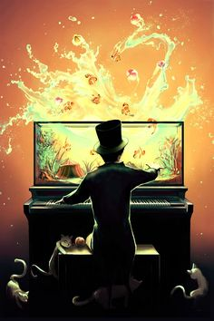 Surreal Paintings by Cyril Rolando. I've seen a painting that looks almost exactly like this..