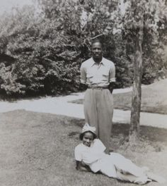 Original 1940's African American Black Couple by InteriorVintage