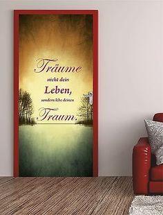 T�rposter MOTIVATION  T�raufkleber T�rfolie T�rtapete Liebe Gl�ck Leben  512TP