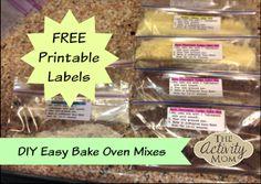 Make Your Own Easy Bake Oven Mixes