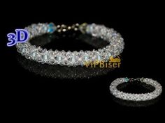 Winter Beaded Bracelet. 3D Beading Tutorial - YouTube