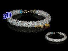 Winter Beaded Bracelet. 3D Beading Tutorial - YouTube