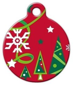 Lupine Pattern Christmas Cheer - Custom Pet ID Tag for Dogs and Cats - Dog Tag Art -- Learn more by visiting the image link.-It is an affiliate link to Amazon. #PetHarnessesLeashes