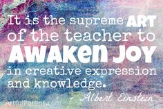Albert Einstein Creativity and Education Quote - One of my favorites!