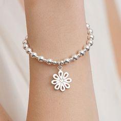 Annie Haak Sterling Silver Daisy Bracelet, Bracelet Watch, Jewellery Bracelets, Eternity Rings, Silver Lining, Nice Things, Annie, Silver Jewelry, Bling