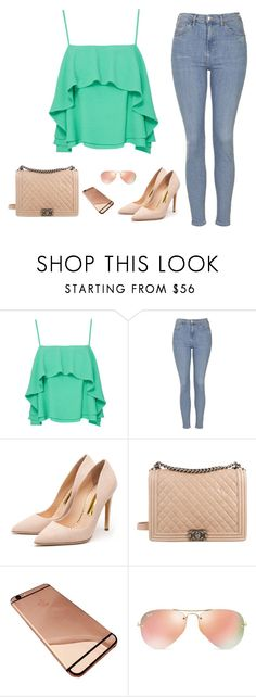 """""""Inspiration"""" by monika1555 on Polyvore featuring Apiece Apart, Topshop, Rupert Sanderson, Chanel, Ray-Ban, women's clothing, women, female, woman and misses"""