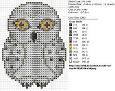Free Owl Cross Stitch Pattern to Print