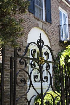 Beautiful iron gate - Along East Bay Street, Charleston
