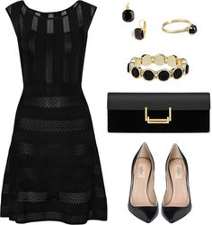 """Love black"" by mara-montandon ❤ liked on Polyvore...love the fabric"