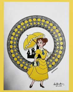 Jane 👸 Mandala Design, Mandala Art, Disney Princesses, Zentangle, Doodles, Symbols, Letters, Drawings, Zentangle Patterns