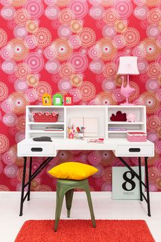 Red wallpaper/behang collection Lef - BN Wallcoverings