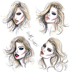 Beauty looks by Hayden Williams for Rimmel London and Kate Moss 'Idol Eyes'collection