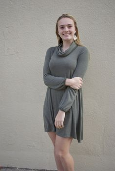 Fall is in the air with turtle neck sweater dresses!