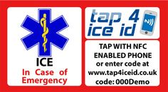 ICE ID stickers display the paramedic star and ICE which makes them easily recognisable by emergency personnel. Helmets, Packing, Coding, Ice, Stickers, How To Make, Bag Packaging, Hard Hats, Motorcycle Helmet