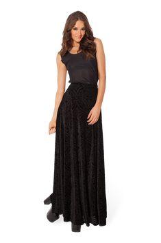 Burned Velvet Maxi Skirt – Black Milk Clothing