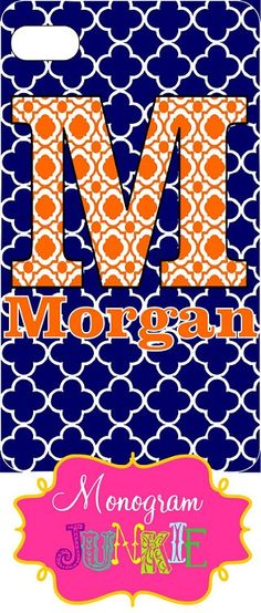PERSONALIZED MONOGRAMMED Cell IPhone Case Iphone by Monogramjunkie, $28.00