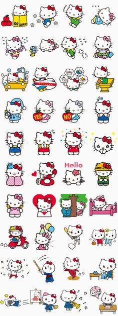 Hey girls! Say hello to the world famous Hello Kitty as she makes her appearance on LINE! See Kitty's daily routine as well as her new original poses!