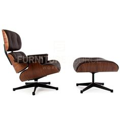 Classic Lounge Chair With Ottoman Stool In Style Of Charles & Ray Eame – FSWorldwide