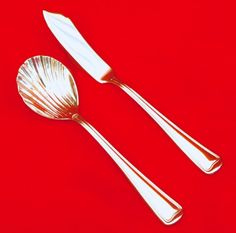 GOLDEN GORHAM SHELL Stainless 5 Pc Place Setting Flatware 18//8 ~ Excellent Cond