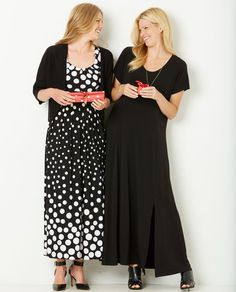 Double your holiday dress inspiration.  Plus Size Fashion from Woman Within.