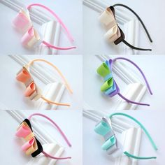 This Pin was discovered by Мар Ribbon Headbands, Ribbon Hair Bows, Diy Hair Bows, Diy Bow, Diy Headband, Baby Headbands, Headband Hairstyles, Diy Hairstyles, Barrettes