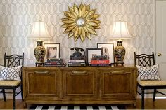 love the formal yet funky relaxed vibe of this entryway. Must. find. mirror.