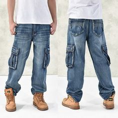 Casual Hip-Hop Baggy Jeans