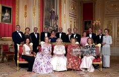 Crimson Drawing Room At Windsor Castle Queen Elizabeth II With The Reigning…
