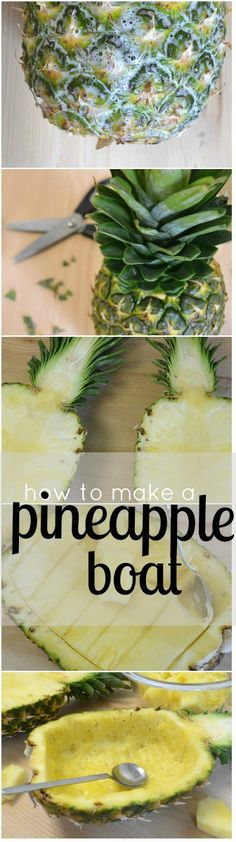 Learn how to carve fresh pineapple fruit into a pineapple boat. Perfect to use as a serving dish for this refreshing Pineapple Granita dessert recipe.