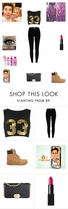 """Helping Nash babysit Skylynn"" by nikolestyles ❤ liked on Polyvore featuring River Island, Timberland and NARS Cosmetics"