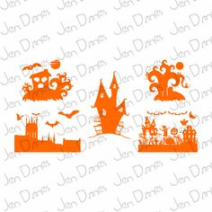 Haunted house svg, halloween files, halloween svg, haunted files, scary svg,files SVG files for Cricut Silhouette svg cutting files, - pinned by pin4etsy.com