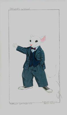 Stuart Little concept sketch. Jonathan Lipnicki, Stuart Little, Geena Davis, Hugh Laurie, Michael J, Halloween 2018, Book Illustrations, Children's Books, Costume Design