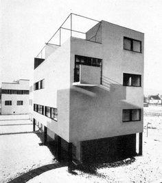Semi-detached house in the New House Estate, Hugo Foltýn, Brno, Czechoslovakia 1928