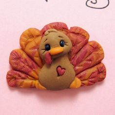 Polymer+Clay+Turkey+Holiday+Pin+by+clayinaround+on+Etsy