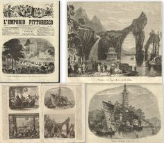 中國-China-lake-Tài Hú-rare engraving of 1867