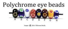 Simple polychrome eye beads
