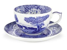 Blue Italian 20 oz. Jumbo Cup and Saucer *** Visit the image link more details.