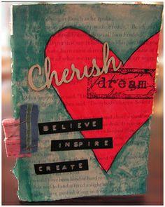 cherish mixed media canvas