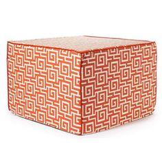 'Orange Puzzle' Outdoor Ottoman